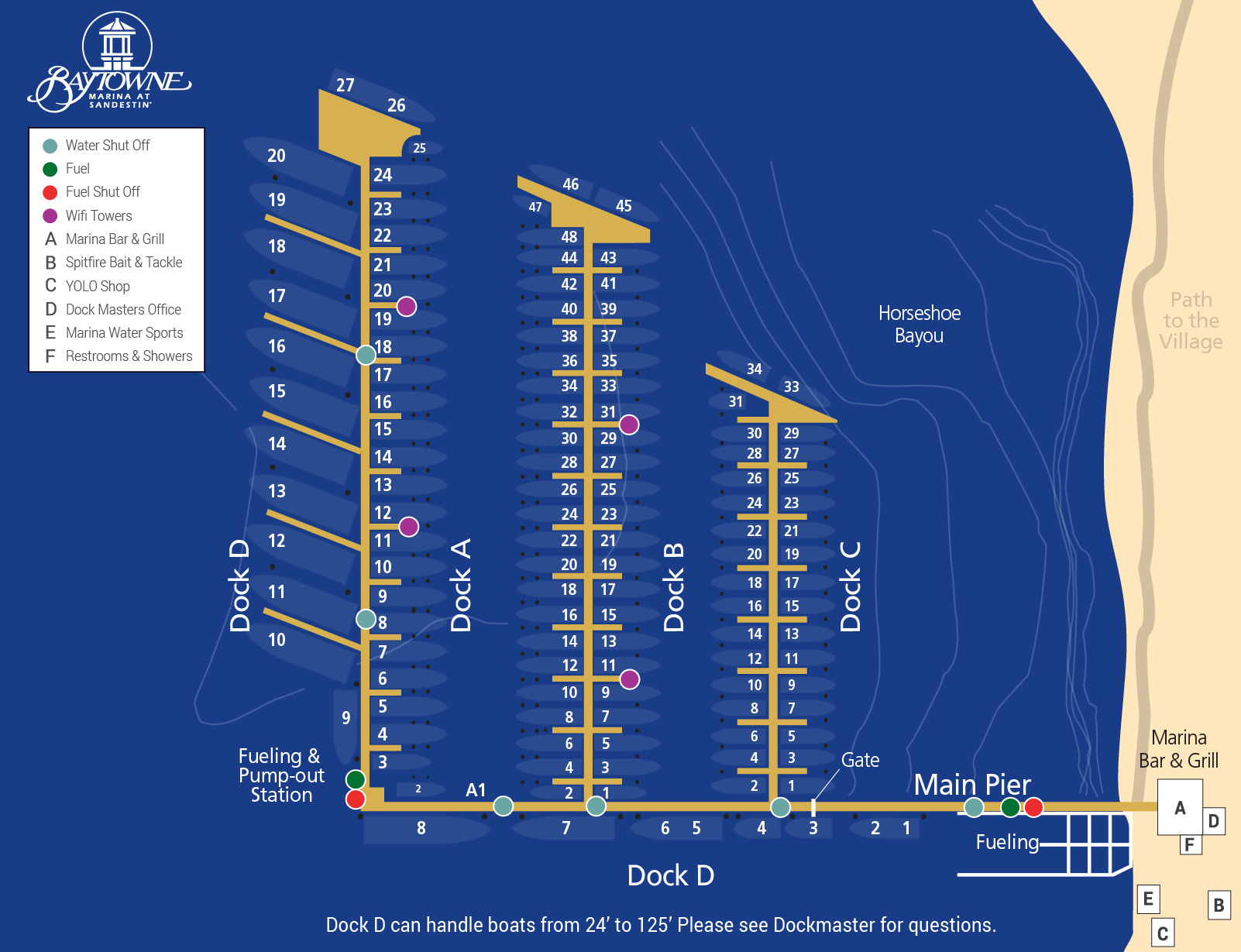 Marna docking map