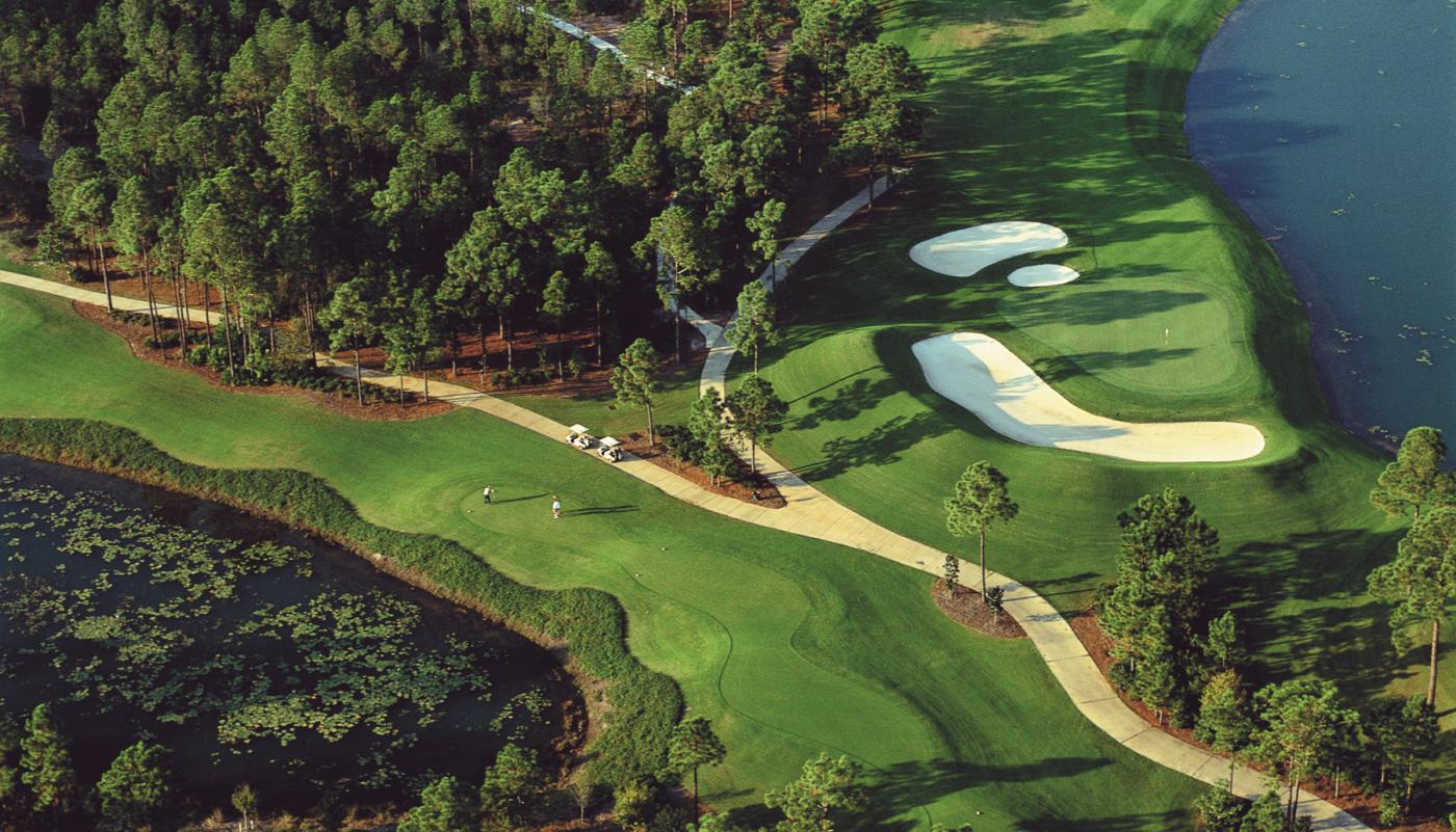 Aerial view of the Burnt Pine 9th Hole