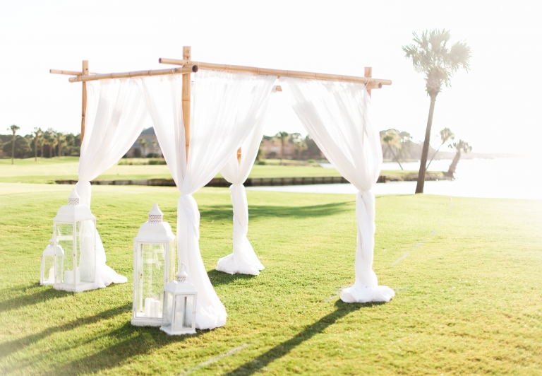 Links Lawn Wedding set up