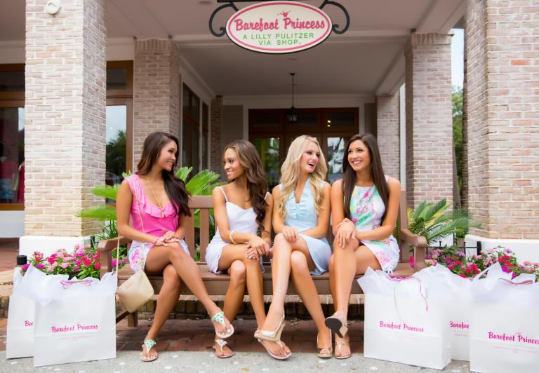 Women sitting outside of Barefoot Princess