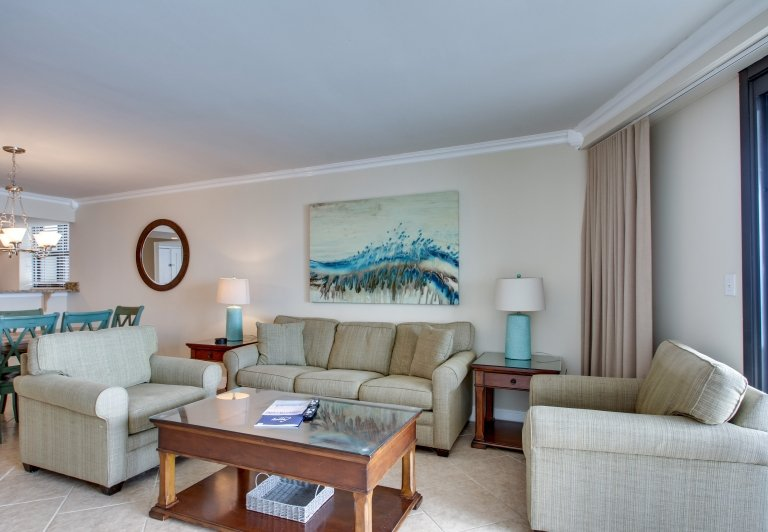living room area at beachside towers