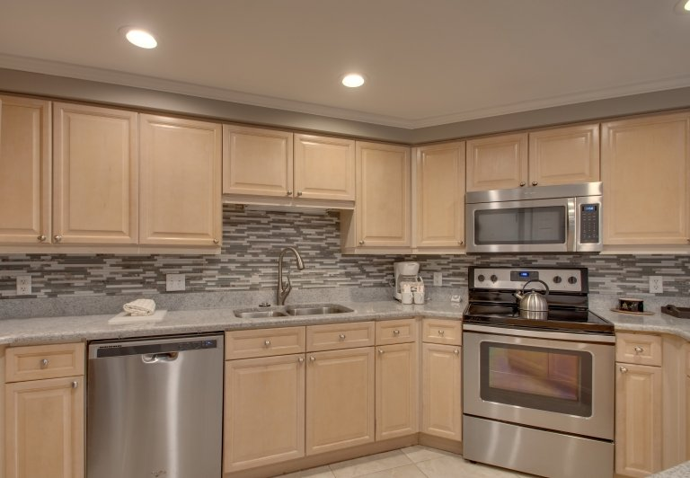 kitchen area at westwinds