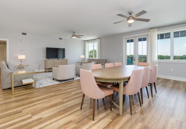 dining area in a three bedroom unit at Osprey Pointe