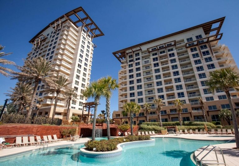 exterior of Luau buildings at Sandestin Golf and Beach Resort