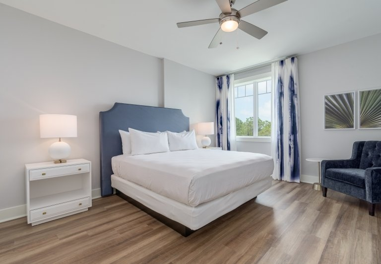 bedroom in two bedroom unit at Osprey Pointe
