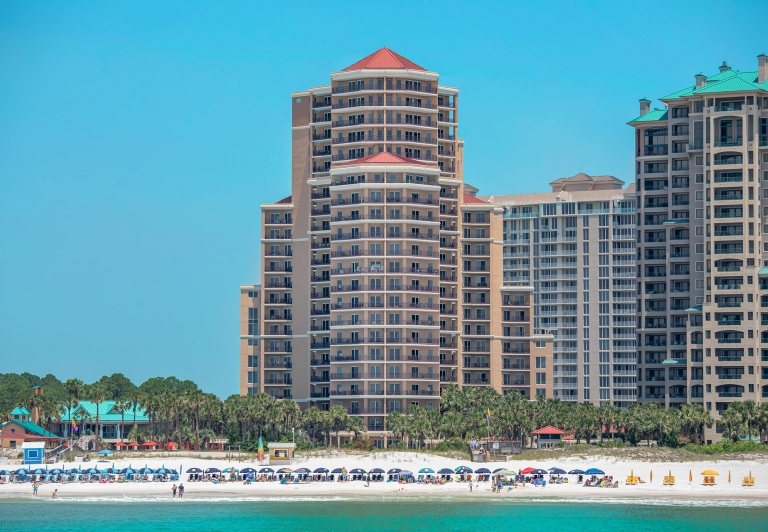 westwinds building as viewed from the beach