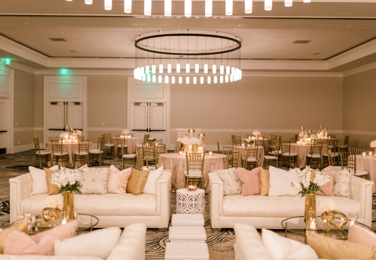 wedding setup in azalea ballroom