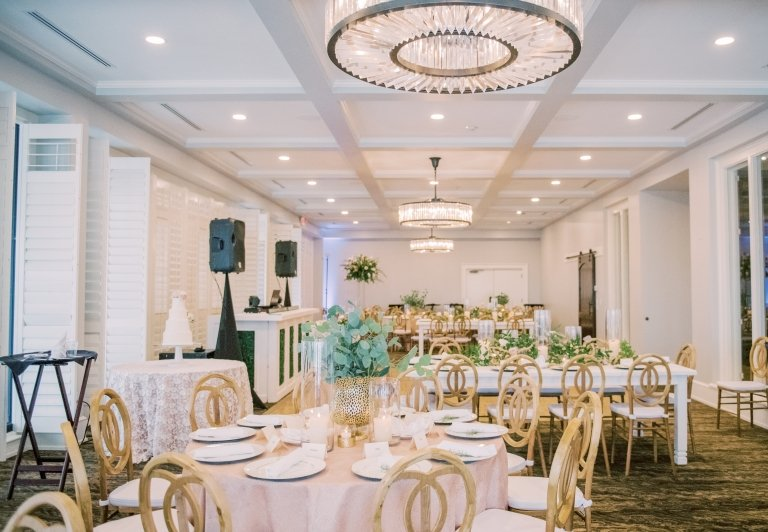 bayview room with wedding reception setup