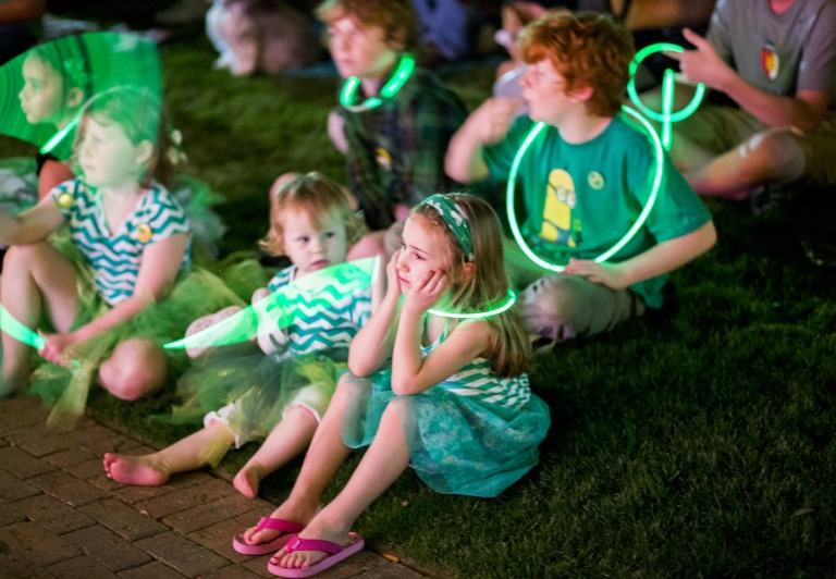 Group of Kids in Green Clothing