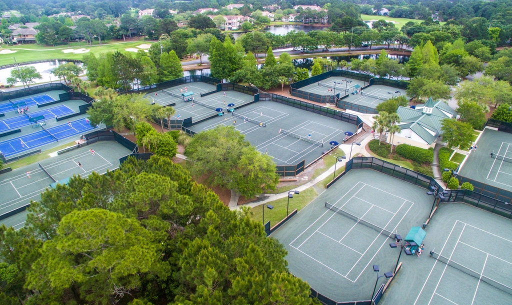 tennis courts at Sandestin Golf and Beach Resort