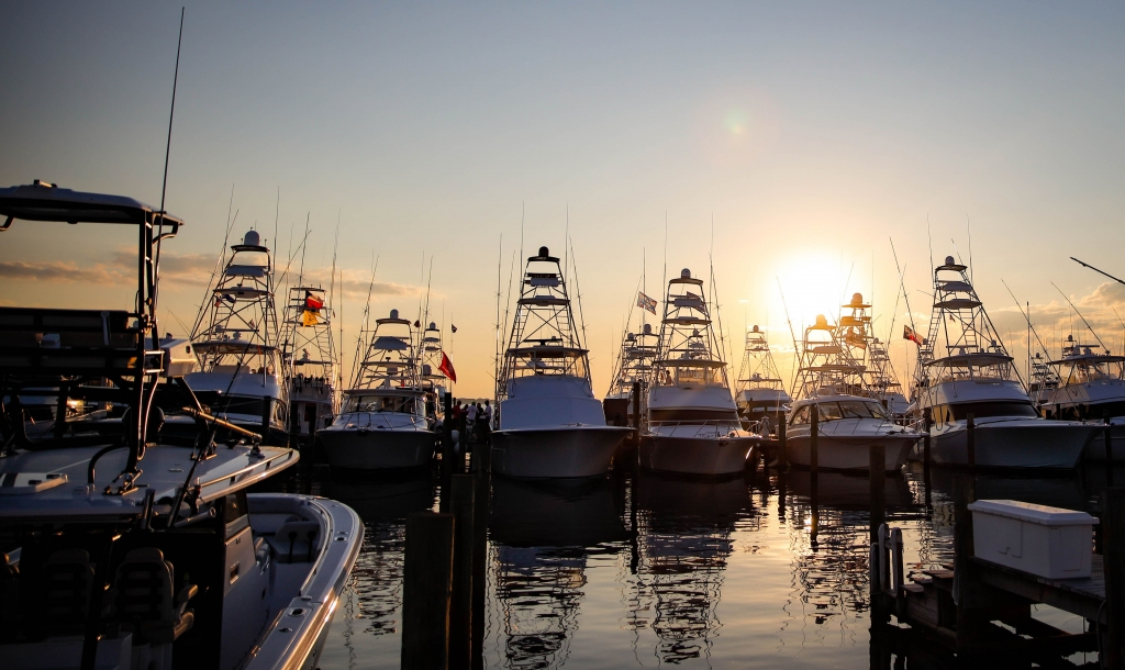 The Baytowne Marina at sunset