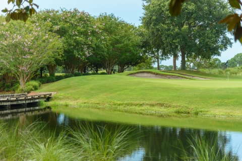 a water trap on the beautiful green golf course at Sandestin Golf and Beach Resort