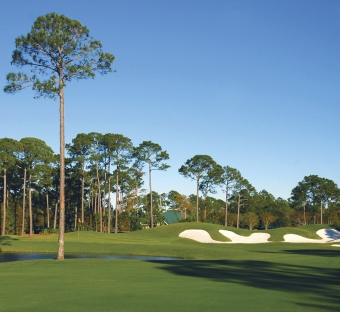 The Baytowne Golf Club course on a sunny day