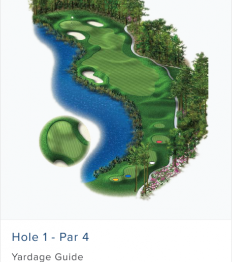 Illustration of Burnt Pine's 13th hole. Par 4.